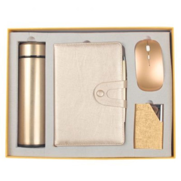 4 in 1 Set : Sipper, Diary with Pen, Mouse & Card Holder
