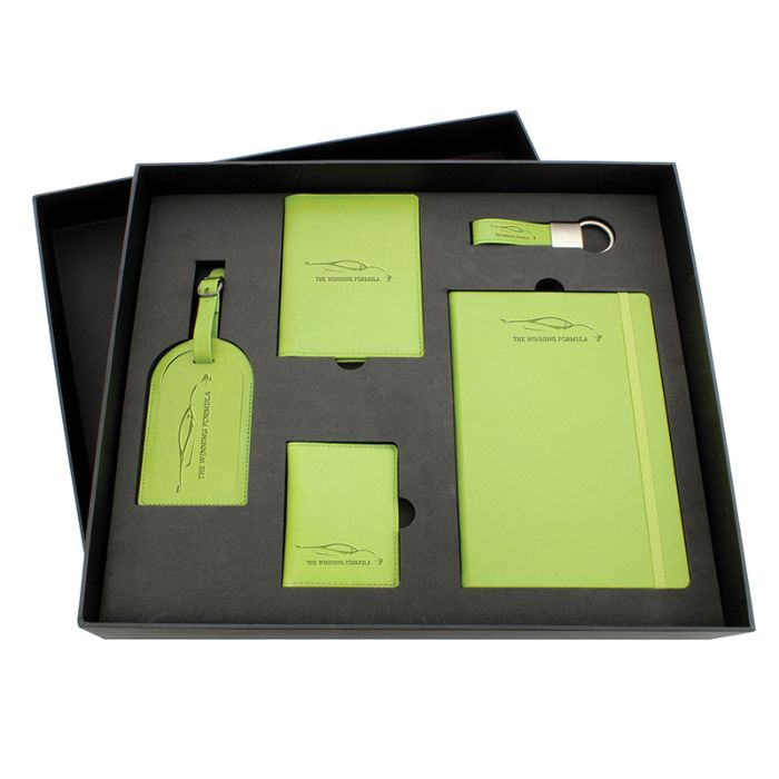5 in 1 Set : Luggage Tag, Passport Holder, Wallet, Keychain & Diary