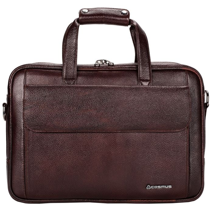 Cosmus Genuine Leather 13 inches Men's Laptop Bag