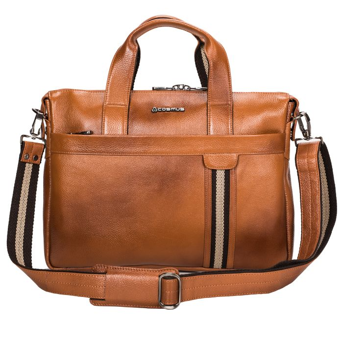 Cosmus Genuine Leather Laptop Bag for 13 inches Macbook