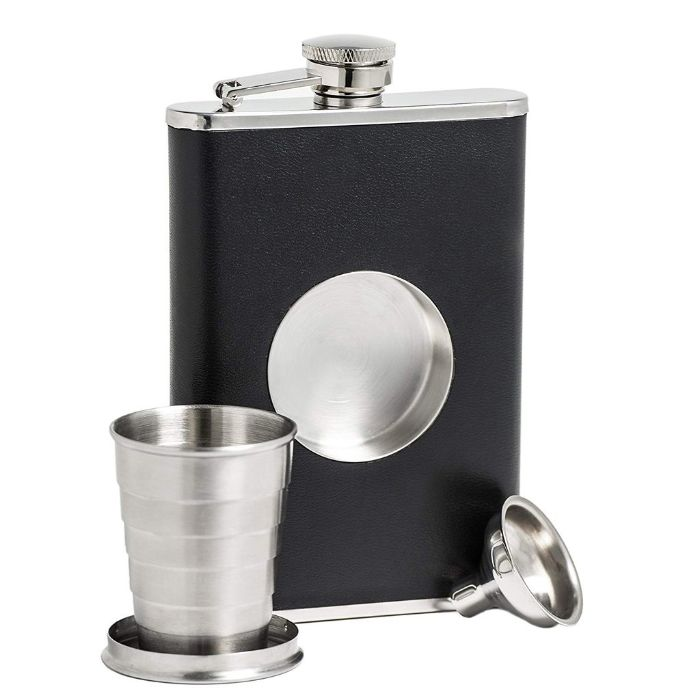 Hip Flask With Folding Glass And Funnel