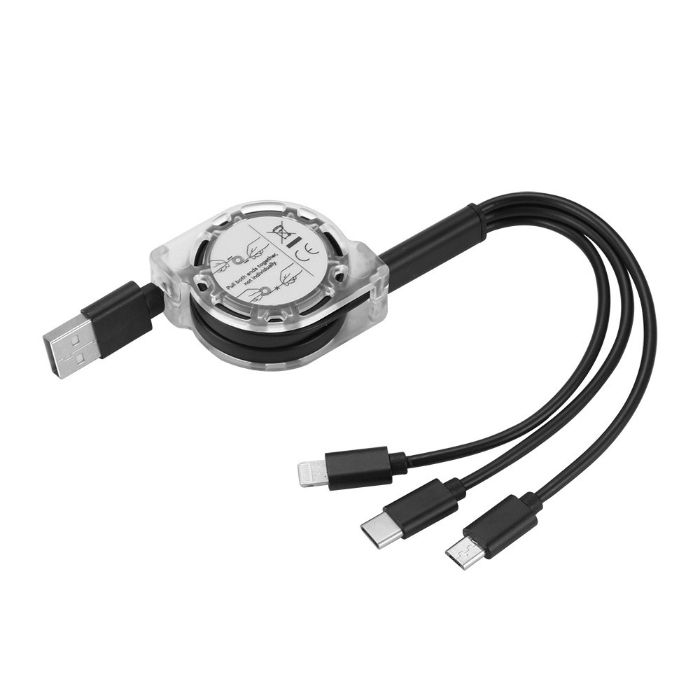 Multiple 3 in 1 Mobile Charging Cable