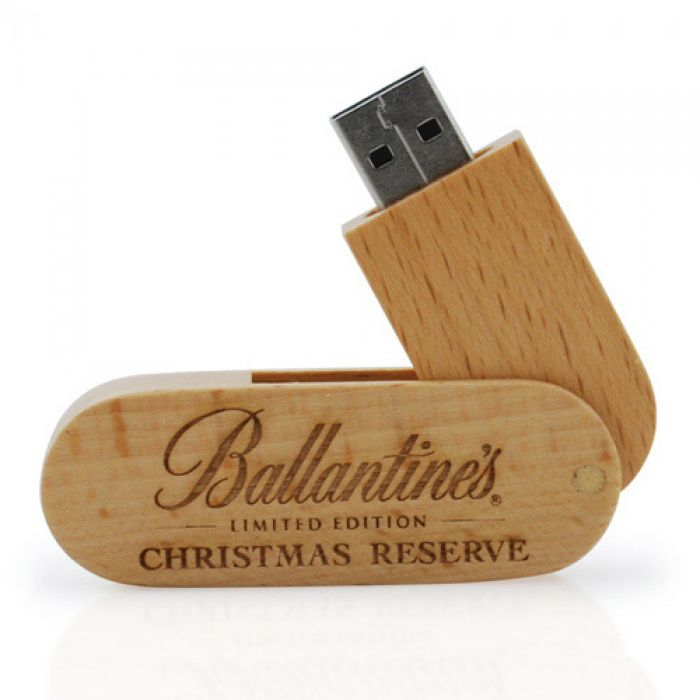 Swivel Wooden 8GB USB Pen Drive