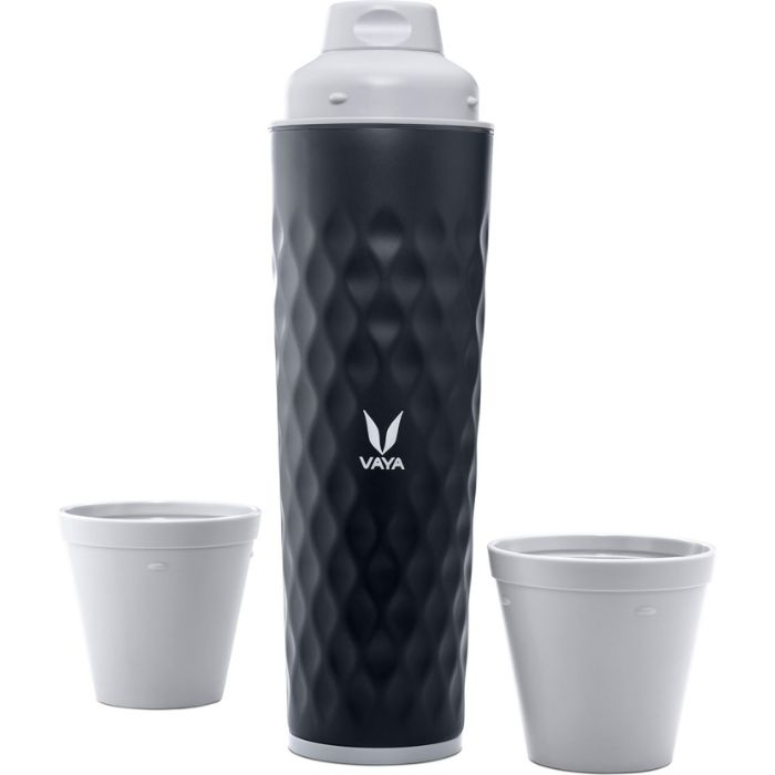 Vaya Stainless Steel 3 in 1 BPA Free Water Bottle with 2 Cups