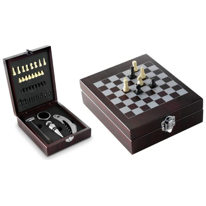 Wooden Brown Chess Bar Game Set